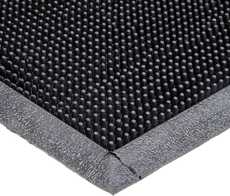 Durable Heavy Duty Rubber Fingertip Outdoor Entrance Mat 36 X 72 Black