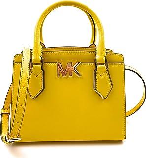 حقيبة ماسنجر جلدية بنقش العلامة التجارية وتمر بالجسم للنساء من مايكل كورس