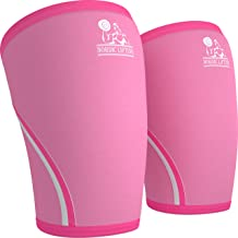 Knee Sleeves (1 Pair) Support & Compression for the Best Squats, 7mm Neoprene - by Nordic Lifting