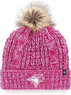 Girls' Toronto Blue Jays MLB Meeko Magenta Cuff Knit Toque