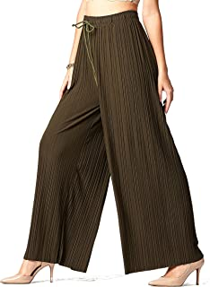 Premium Pleated Palazzo Pants for Women and Maxi Skirts -...