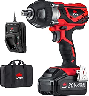 NoCry 20V Cordless Impact Wrench Kit – 300 ft-lb (400 N.m) Torque, 1/2 inch Detent..