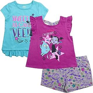 SIZES 2-6 Years NEW DISNEY PRINCESS 2PC TIED DRESS /& LEGGINGS SETPINK /& WHITE