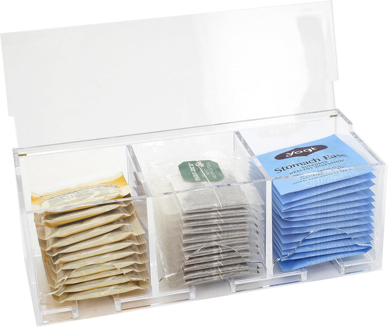Paylak CNT395 Tea Box Contemporary Compact Acrylic Holder Tea Bags