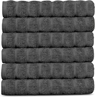 Lavish Touch 650 GSM 100% Long Staple Cotton Pack of 6 Towels 16 x 24 , Premium Hotel Spa Quality, Ultra Soft Highly Absor...