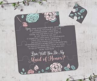 Will You be My Maid of Honor Gift Puzzle Chalkboard Will You Be my Bridesmaid Gift Puzzle Invitation Wedding Puzzle Invitation Flower Girl Gift Puzzle