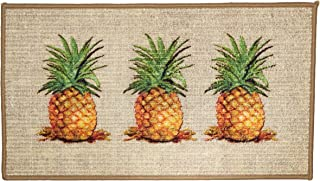 Bohemian Three Pineapple Door Mat with Anti-Slip Technology and Vibrant Chic Style
