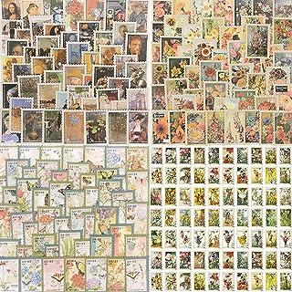 Scrapbooking Autocollant Vintage, 400 Pcs Autocollants Timbre, Deco scrapbooking Vintage Stickers Papillon Ville Peinture ...