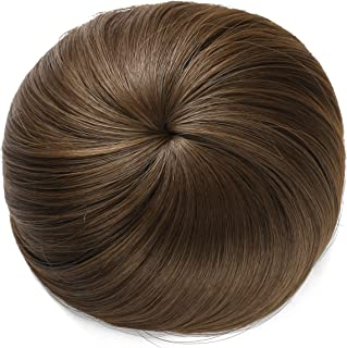 Onedor Synthetic Fiber Hair Extension Chignon Donut Bun Wig Hairpiece (8A – Light..