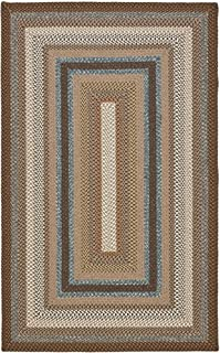 Safavieh Braided Collection BRD313A Hand Woven Brown and Multi Area Rug (4' x 6')