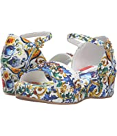 Dolce & Gabbana Kids - Escape Maiolica Floral Wedge (Little Kid/Big Kid)