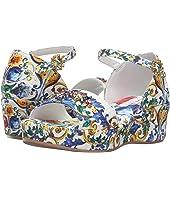 Dolce & Gabbana Kids - Escape Maiolica Floral Wedge (Little Kid/Big Kid)