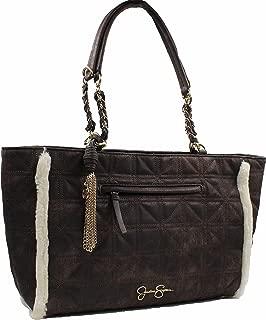 Womens Nordia Tote Bag (Chocolate Suede/Cream Fur)