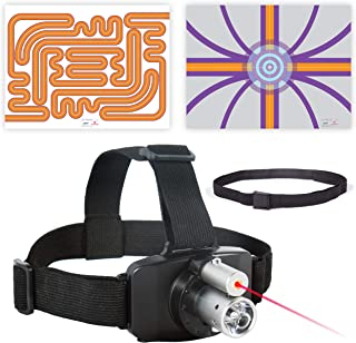 SenMoCOR LED Laser Headlamp System with 2 Poster Targets/Mazes for Sensory Motor Control Testing and Treatment