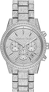 Women's Ritz Quartz Watch with Stainless Steel Strap, Silver, 20 (Model: MK6746)