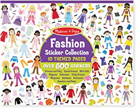 Melissa & Doug Sticker Collection Book - Fashion, 600+ Stickers, 10 Pages