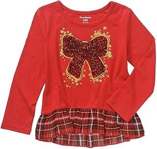Garanimals Toddler Girl Long Sleeve Festive Christmas Holiday Shirt
