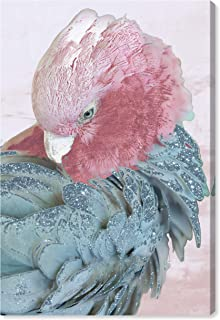 """The Oliver Gal Artist Co. Animals Wall Art Canvas Prints `Cockatoo in Sydney` Home Décor, 30"""" x 45"""", Pink, Blue"""