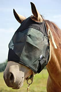 Horse Fly Mask Cover Ears Nose, All Around Barn, Stable, Pasture, Trail Riding Sun Protection and Styles
