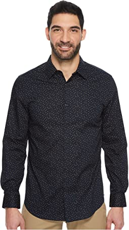 Perry Ellis - Long Sleeve Geo Graph Print Dress Shirt