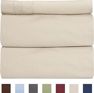 c4799fae5c61 CGK Unlimited Twin Size Sheet Set - 3 Piece Set - Hotel Luxury Bed Sheets -
