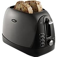 Oster 2-Slice Toaster, Metallic... Oster 2-Slice Toaster, Metallic Grey (TSSTTRJBG1)