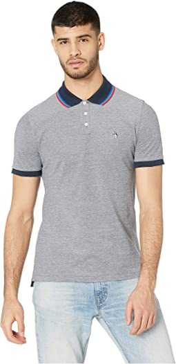 Short Sleeve Tipped Birdseye Polo