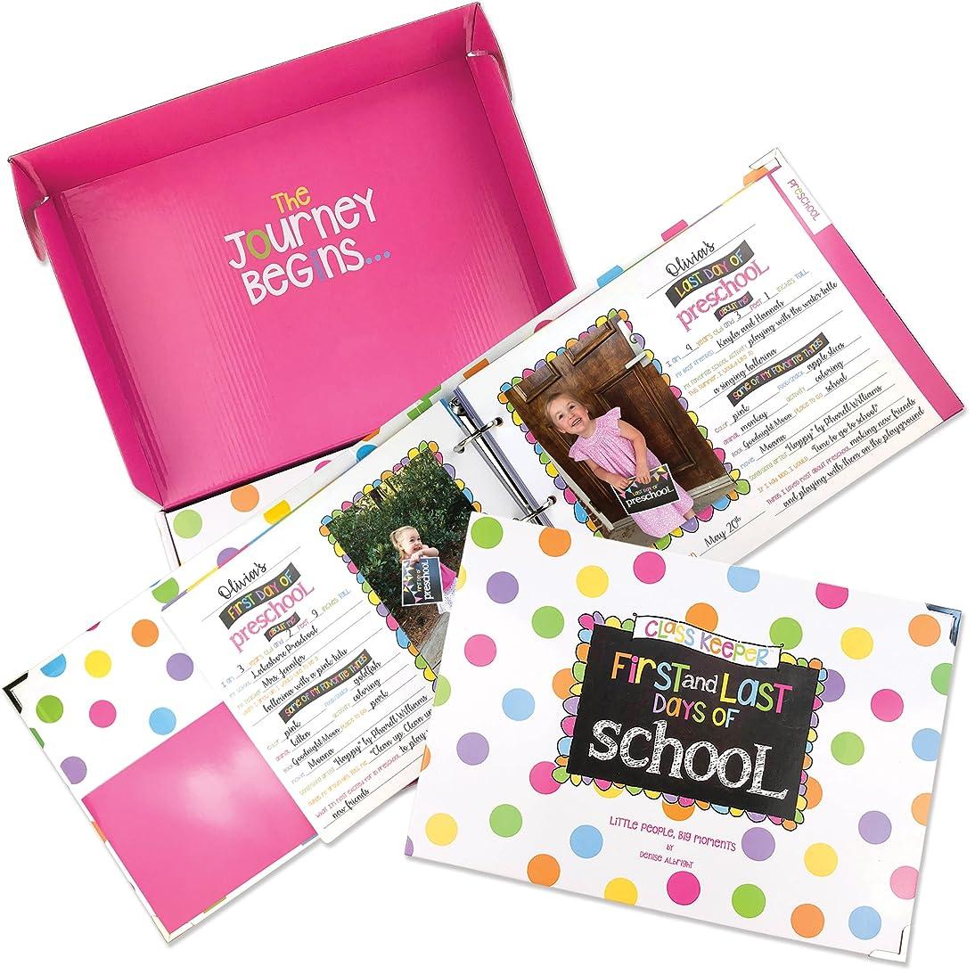 School Memory Book Keepsake Album, Scrapbook for Kids Memories Preschool to College, with Pocket for Every Grade, Class Photos, School Pictures