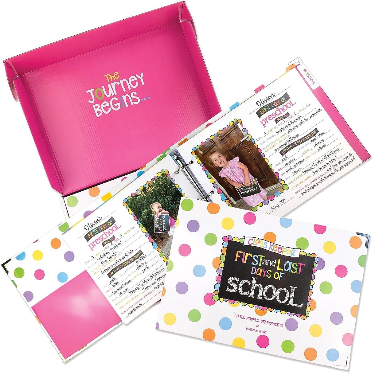 初期間違いなく気配りのあるクラスキーパー 学校メモリー ブック | スクラップブック アルバム 子供用 - 幼稚園から大学まで | 全学年生の記念品ポケット | クラス写真と学校の写真用フォトページ