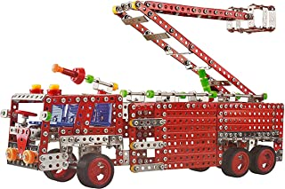 IQ Toys Large Fire Truck Building Construction Model with Metal Beams and Screws 842 pcs