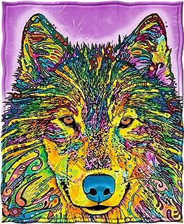 Dawhud Direct Fleece Throw Blanket by Dean Russo (Wolf)