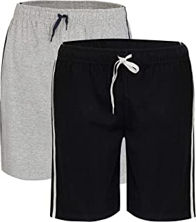 Bonjour® Men's Twin Pack Pyjama Bottoms | Pack of Two Cotton Shorts with Elasticated Waist | Soft, Cosy & Comfy Lounge Sho...