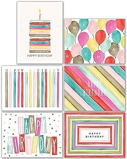 48 Watercolor Bulk Birthday Cards Assortment – Bulk Happy Birthday Card with Envelopes Box Set Multipack– Assorted Blank B...