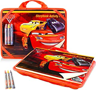 Disney Cars Lap Desk Activity Set for Kids with Case, Coloring Book, Sticker Book, Games, Puzzles and More (Travel Lapdesk Pack)