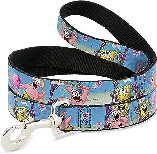 (narrow) - Spongebob Cartoon TV Series Let's Go Jellyfishing Fun Animal Pet Dog Cat Leash
