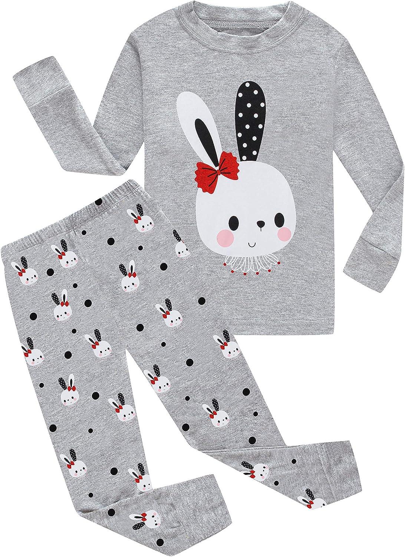 KikizYe Little Big Girls Pajamas Set Kids PJs 100% Cotton Sleepwear