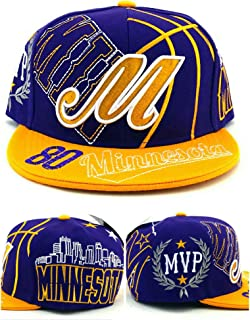 Minnesota New Leader Top MVP 80 Carter Purple Gold Era Snapback Hat Cap