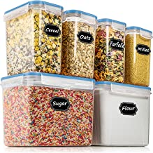 Airtight Food Storage Containers - Wildone Cereal & Dry Food Storage Container Set of 6, Leak-proof & BPA Free, With 1 Mea...