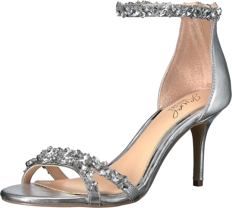 Jewel Badgley Mischka Women's Challenge the lowest price of Japan ☆ Caroline Dress Sandal Detroit Mall