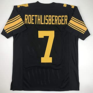 Unsigned Ben Roethlisberger Pittsburgh Color Rush Custom Stitched Football Jersey Size Men`s XL New No Brands/Logos