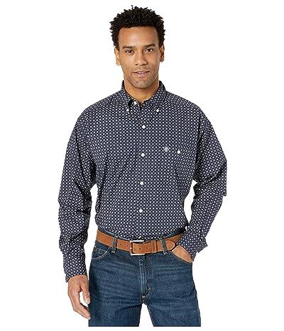 Ariat Vigorous Stretch Print Shirt (Peacoat) Men