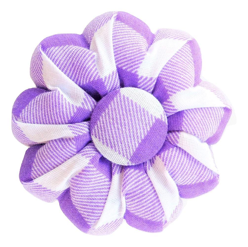 Purple Pin Needle Cushion Sewing White Buffalo Plaid Violet Tartan Cute Small Size Pumpkin Sewing Pincushions Safety Holder Girl Women Gift Craft Handmade Quilting Handicraft