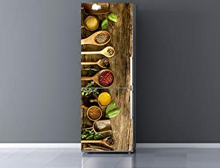 Oedim Vinilo para Frigorífico Especias 185x60cm | Adhesivo Resistente y Económico | Pegatina Adhesiva Decorativa de Diseño Elegante