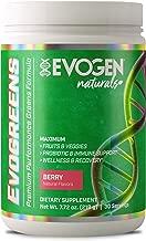 Evogen Evogreens | Premium Performance Greens Superfood, Spirulina, Pomegranate, Probiotics, Kale | 30 Servings … (Berry, 30 Servings)