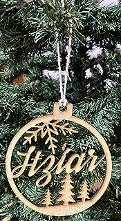 Bola de Navidad personalizada con nombre. 100% en madera MDF. Diseñado, vendido y enviado por VPM Original. 100% Producto ...