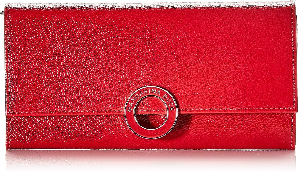 mandarina duck , deluxe portafoglio per donna , in vera pelle p10bzp03