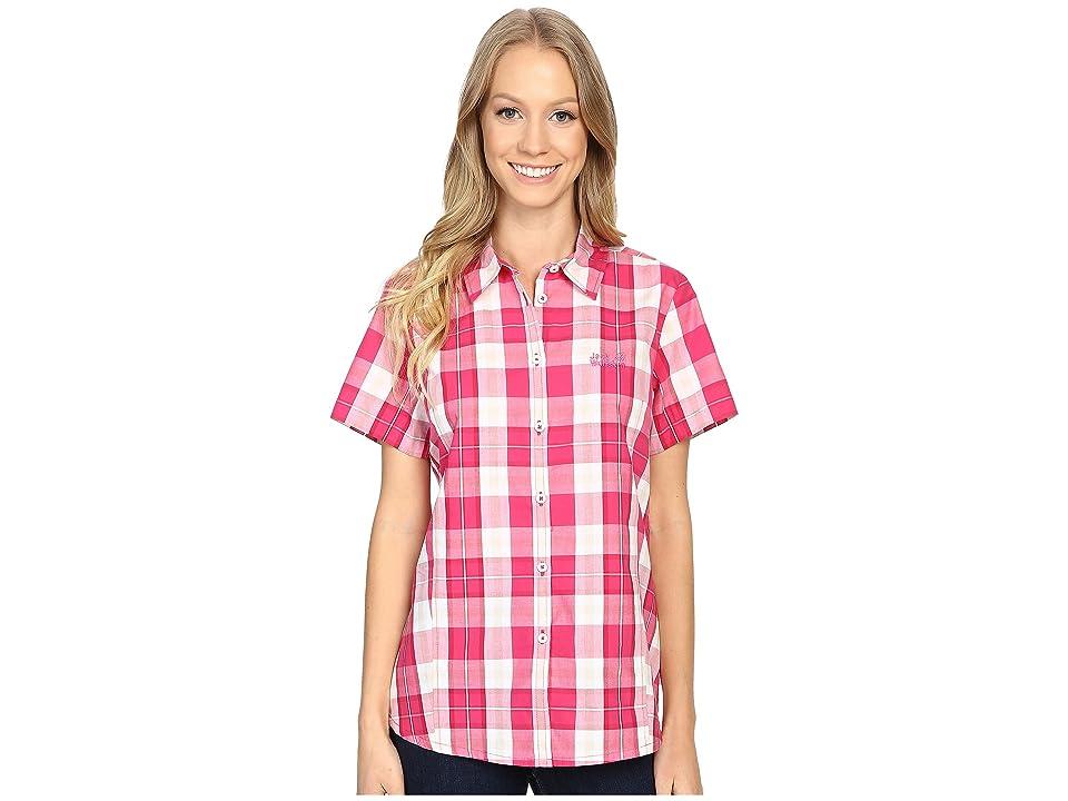Jack Wolfskin Aoraki Shirt (Pink Raspberry Checks) Women
