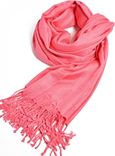 Premium Pashmina Shawls and Wraps and Scarves in Solid Colors