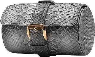 SWISS REIMAGINED Genuine Leather Portable Watch Roll Case Travel Organizer Safe Storage