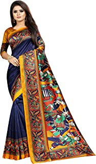 Oomph! Art Silk Saree with Blouse Piece